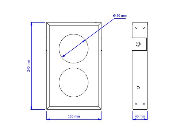 Semafor LED - wymiary